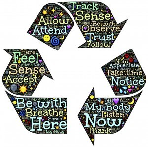 recycle good thoughts | mindfulness for anxiety